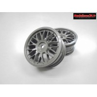 AMR Jantes 1/10 Touring 26mm Mesh (2) Gris : AMR-92445G
