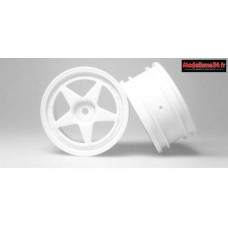 AMR Jantes 1/10 Touring 26mm 5-Spoke (2) Blanches : AMR-92561