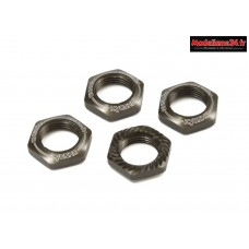 Kyosho Ecrous de roues cannelés 1/8 (x4) Gun Metal : IFW472GM