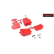 Kyosho Boitier récepteur et batterie Rouge MP9 / MP10 - IFF001KRB