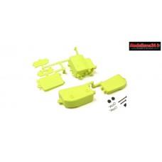 Kyosho Boitier récepteur et batterie Jaune MP9 / MP10 - IFF001KYB