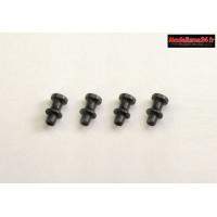 Kyosho Fixations filetées d'amortisseurs longues MP9/MP10 : IF346-04