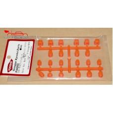 Kyosho Bagues de suspension inferno MP9 / orange fluo - K.IF442KO