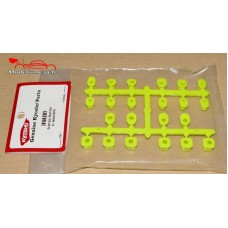 Kyosho Bagues de suspension inferno MP9 / jaune fluo - IF442KY
