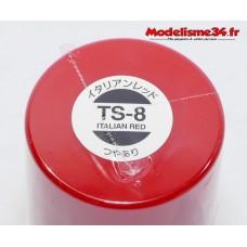 TS-8 Tamiya rouge italien brillant