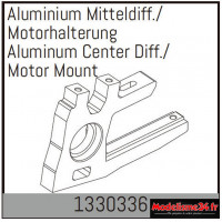 Absima Support de diff./moteur central en aluminium : 1330336