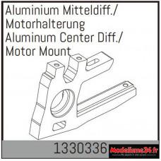 Absima Support de diff./moteur central en aluminium : 1330336