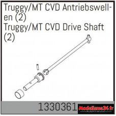 Absima Arbres d'entraînement Truggy/MT CVD (2) : 1330361