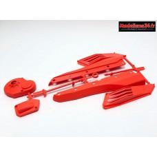 Scorpion XXL Bavettes latérales rouge: SX053R