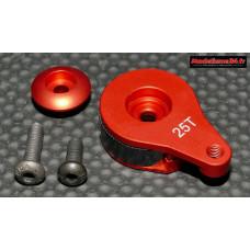 Sauve servo intégré alu rouge 16mm : m405