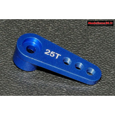 Palonnier servo 25 dents alu bleu 20mm - m409