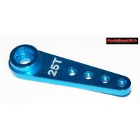 Palonnier servo 25 dents alu bleu 30mm pour vis 2.5 - m410