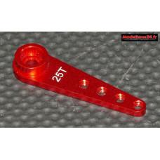 Palonnier servo 25 dents alu rouge 30mm pour vis 2.5 - m411