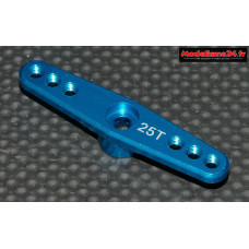 Palonnier servo double 25 dents alu bleu 46mm - m429