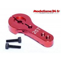 Palonnier servo 25 dents alu rouge - m401
