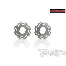 T-Work's Disques de frein ventilés pour Mugen/X-Ray/Serpent (2) : TO270M