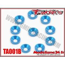 T-Work's Rondelles cuvettes M3 bleues (10) - TA001B