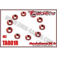 T-Work's Rondelles cuvettes M3 rouge (10) - TA001R