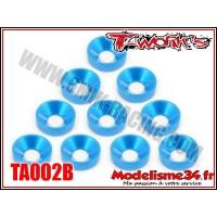 T-Work's Rondelles cuvettes M4 bleues (10) - TA002B