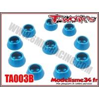 T-Work's Rondelles cuvettes bleues pour vis M3 TC (10) - TA003B