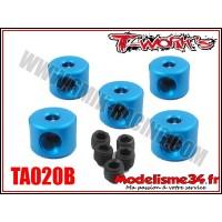 T-Work's Bagues d'arrêt de 2mm bleues (5pcs) - TA020B