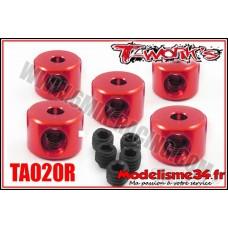 T-Work's Bagues d'arrêt de 2mm rouge (5pcs) - TA020R
