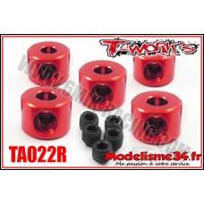 T-Work's Bagues d'arrêt de 3mm rouge (5pcs) - TA022R