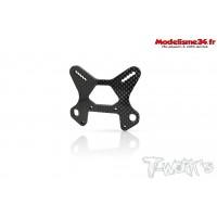 T-Work's Support d'amortisseur arrière carbone 4mm V2 pour MBX8 : TO247MR
