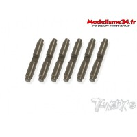 T-Work's Axe de satellites alu anodisés dur pour MP9 (6pcs) - TO258