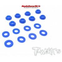 T-Work's Bague d'amortisseur téflon (16 pcs) MBX8 : TO-201-MBX