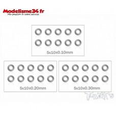T-Work's Set de rondelles de calage de cloche M5 (10x5 tailles) : TA124
