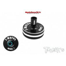 T-Work's Tournevis court 5mm Aluminium : TT-040