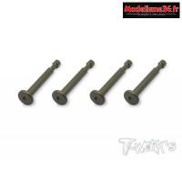 T-Work's Pins de fixation d'amortisseurs aluminium (x4) MP9 : TO198K