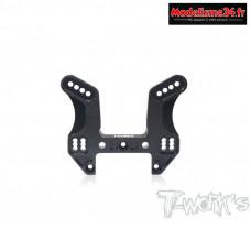 T-Work's Support d'amortisseur avant aluminium hard black MP10  : TO241MP10