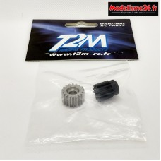 T2M Set pignon 18T alu / 13T plastique pour Pirate Puncher : T4922/70C