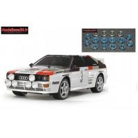 Tamiya  Audi Quattro A2 TT02 + Kit roulements 16 pièces : 58667 + m123