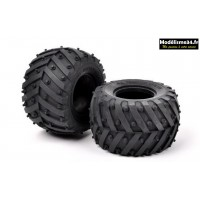Tamiya Paire de pneu tendre (soft) pour chassis WR02 : 54603