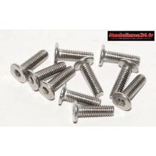 Vis CHC M3x10 têtes plates inoxydables 10 pièces : Ref : m1510