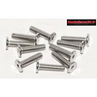 Vis CHC M3x12 têtes plates inoxydables 10 pièces : Ref : m1511
