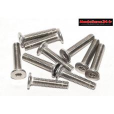 Vis CHC M3x14 têtes plates inoxydables 10 pièces : Ref : m1512