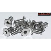Vis CHC M4x6 têtes plates inoxydables 10 pièces : Ref : m1602