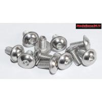 Vis CHC M4x8 têtes bombées inoxydable avec rondelles intégrées ( 10pcs ) : m1610