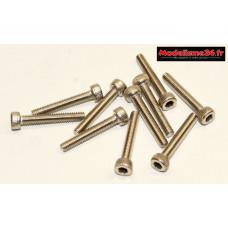 Vis CHC M2,5x16 têtes cylindriques ( 10pcs ) : m1540