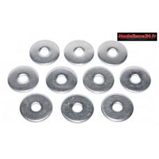 Rondelles acier de 3mm larges 3x12 ( 10 ) : m1567