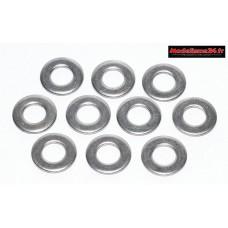 Rondelles acier de 4mm ( 10 ) : m1568