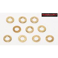 Rondelles laiton 2.5 ( 10 ) : m1570