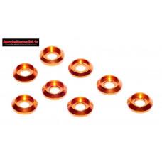 Rondelles cuvettes basse oranges pour vis M3 TC ( 8 ) : m1574
