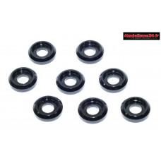 Rondelles cuvettes basse noires pour vis M3 TC ( 8 ) : m1576