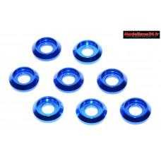Rondelles cuvettes basse bleues pour vis M3 TC ( 8 ) : m1577