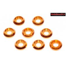 Rondelles cuvettes basse or pour vis M3 TC ( 8 ) : m1578